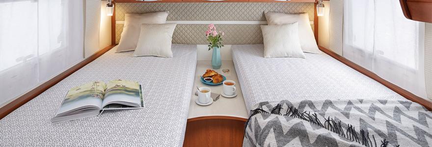 matelas camping-car pour lits jumeaux